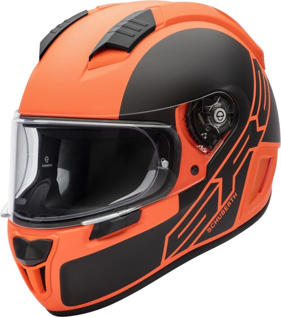 Schuberth SR2 Traction Casco Negro Naranja XS