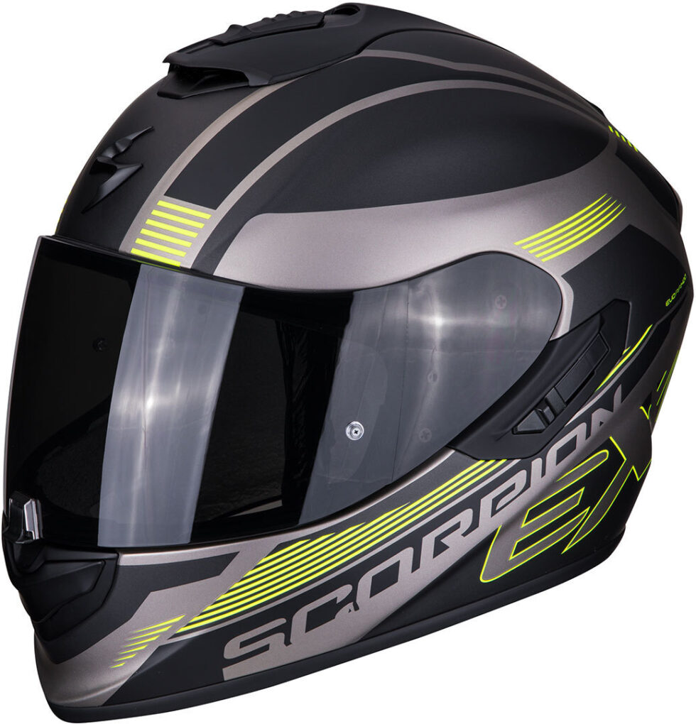 Scorpion EXO 1400 Air Free Casco Negro Amarillo S